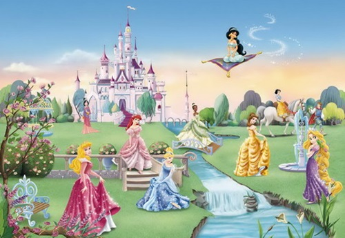 Princesses wall themes for little girls