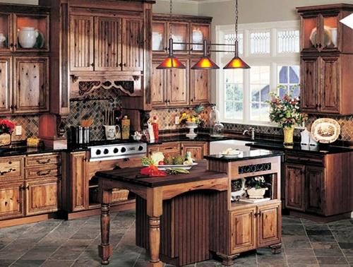 rustic kitchen design – classic furniture - interior design