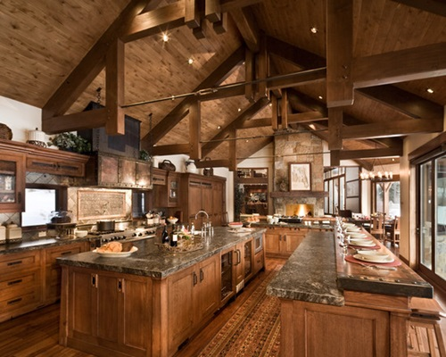 Rustic kitchen design – classic furniture