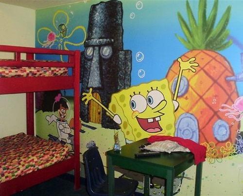 SpongeBob Square Pants Themed Room Design