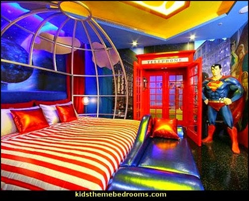 Superman And Batman Themes For Kid S Bedrooms Interior
