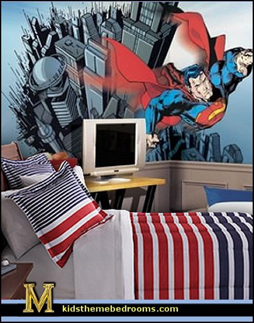 superman and batman themes for kid's bedrooms - interior design