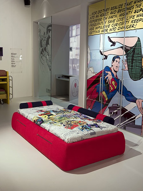 Superman and batman themes for kid 39 s bedrooms interior design - Superman interior designs ...