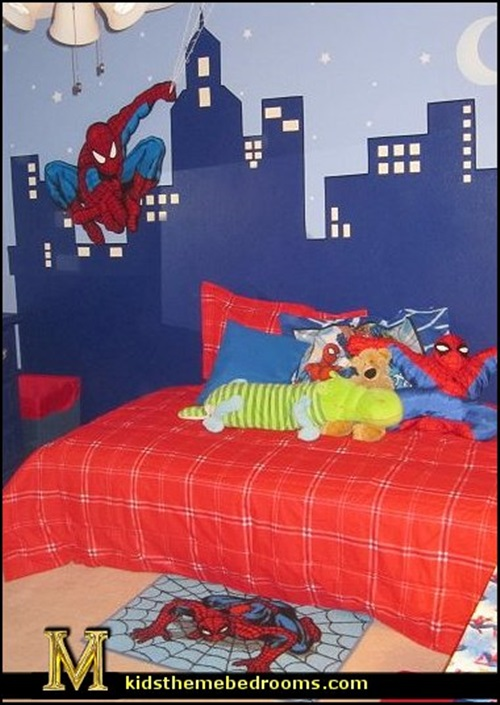 Superman and batman themes for kid 39 s bedrooms interior design - Superman room decorating ideas ...
