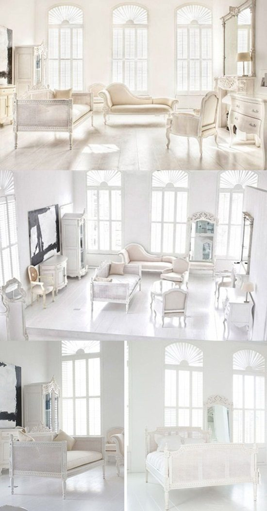 White and Beige French Furniture