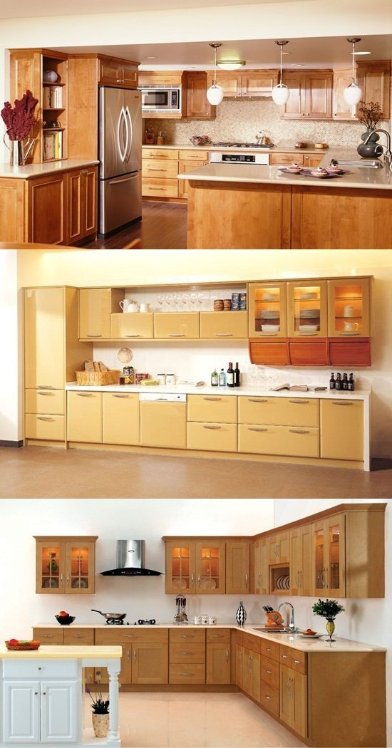 Butternut Color Kitchen Cabinets
