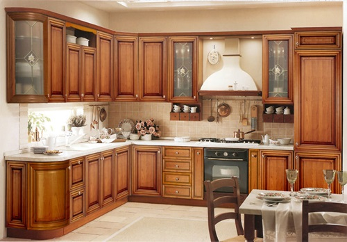Wood In Generating Modern Furniture Kitchen Cabinets