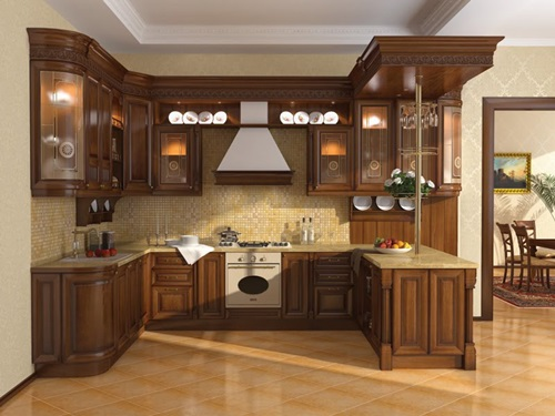 Wood in generating modern furniture – kitchen cabinets