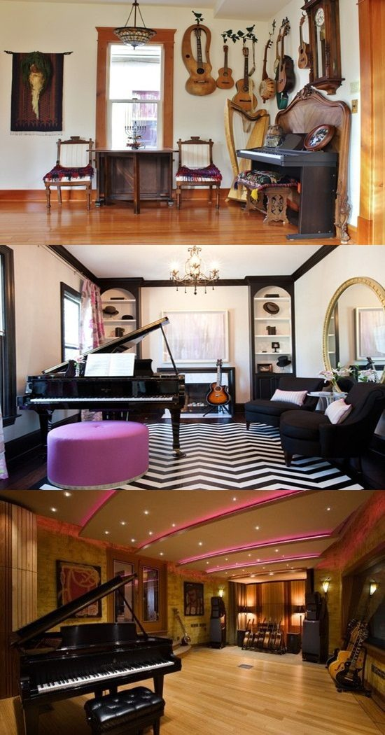 A Contemporary Approach to a Music Room