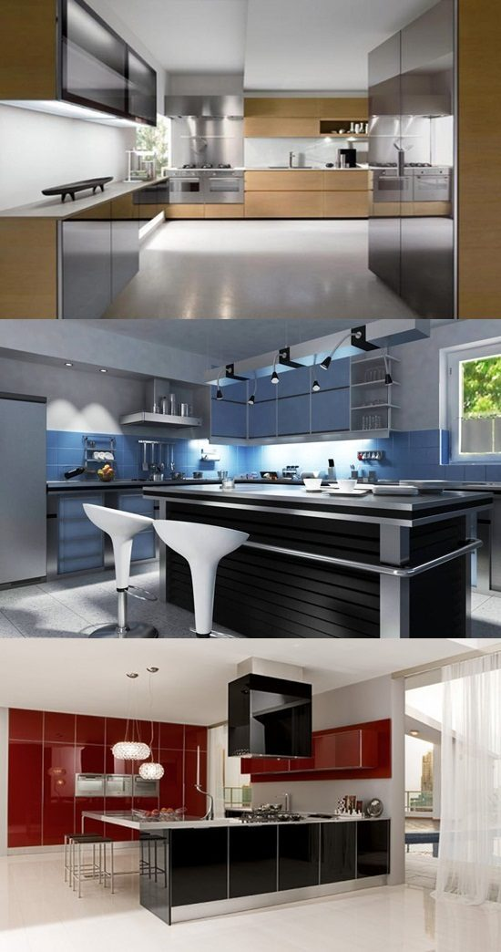 Cool ultra modern kitchens interior design for Ultra modern kitchen cabinets