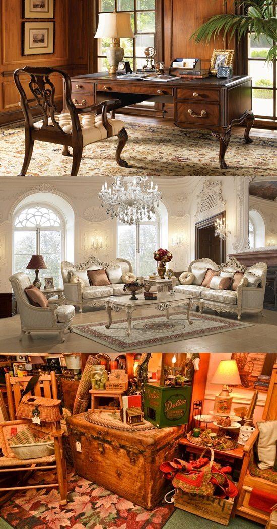 Decorating home with antique furniture pieces interior for Antique decoration pieces