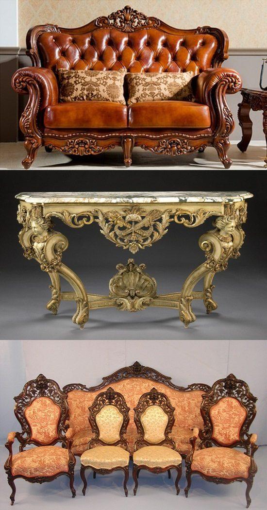 English Baroque And Rococo Furniture Antiques Interior