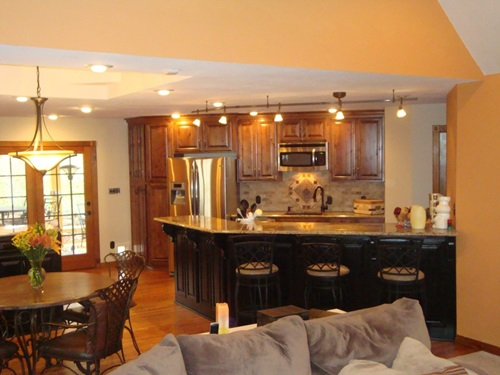 Open kitchen to living room designs interior design - Open concept kitchen living room designs ...