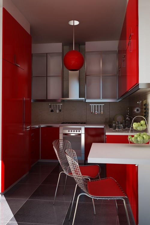 Red And White Kitchen Cabinets Red And White Kitchen Cabinets ...