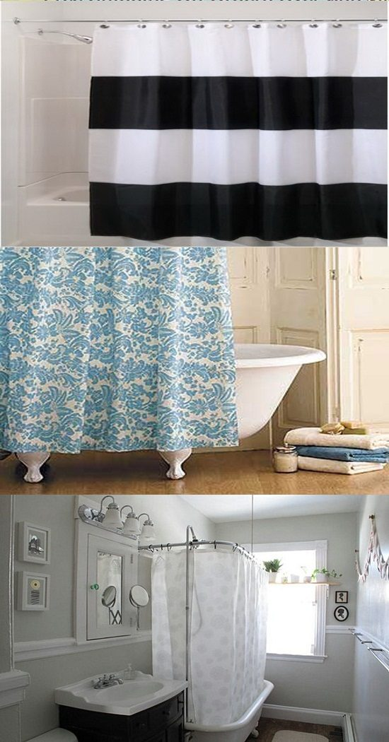 The Different Designs Of The Shower Curtains Interior Design