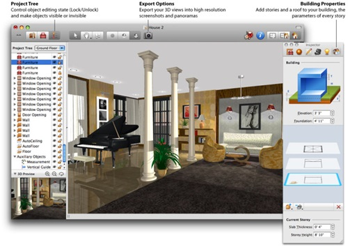 New room 3d software program interior design Free room design software