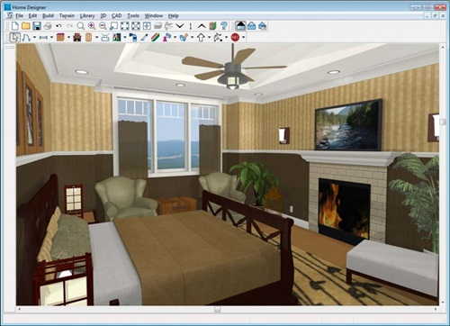 New room 3d software program interior design Room design software