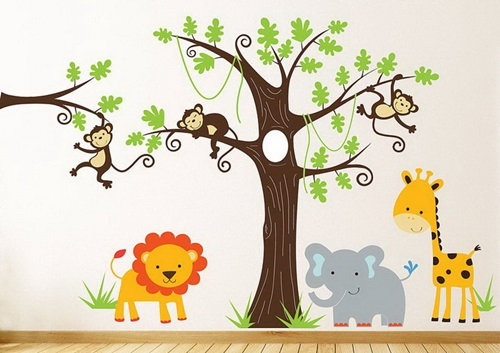 Wall stickers child s room interior design for Kids room wallpaper texture