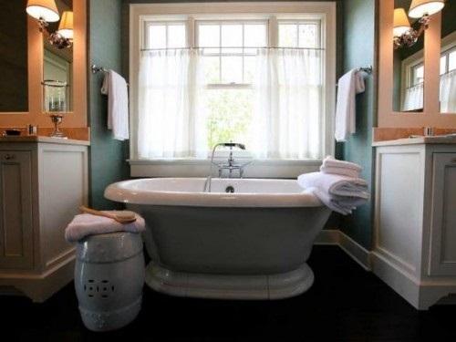 Bathrooms Window Curtains Designs