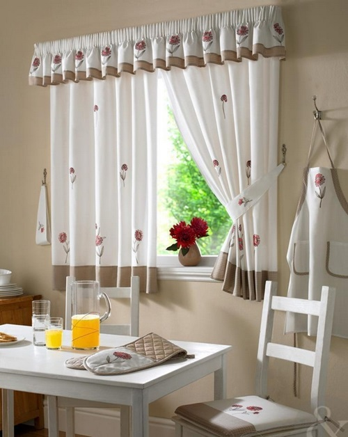 Contemporary kitchen curtain designs interior design - Modern valances for kitchen ...