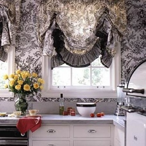 Cottage kitchen curtain ideas cottage curtain interior design - Country kitchen curtain ideas ...