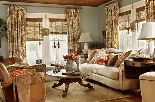 Cottage Living Room Curtain Ideas