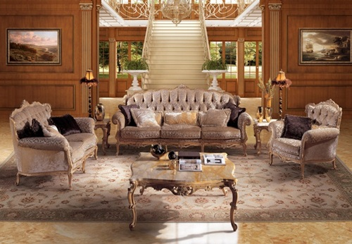 ... French Baroque Living Room Designs ...