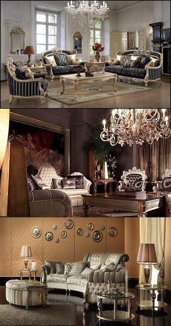 Barque Decor Living Room: French Baroque Living Room Designs