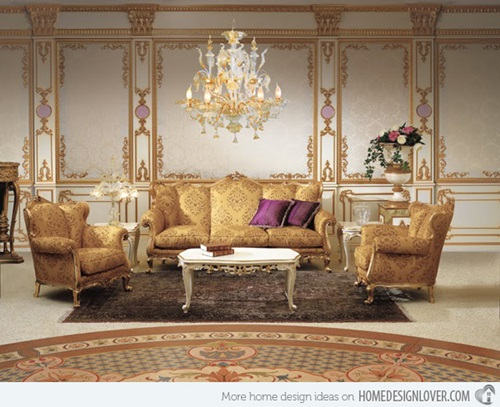 French baroque living room designs interior design - Deco baroque moderne ...