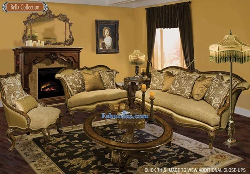 French Baroque Living Room Designs