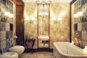 Interior Design of Bathroom - Flooring, Walls and Furniture