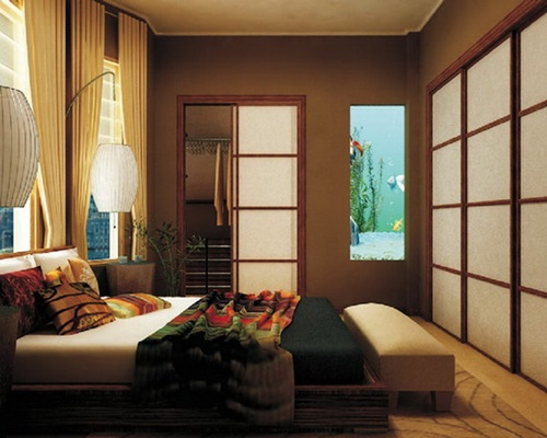 Japanese bedroom designs natural look interior design for Bedroom ideas natural