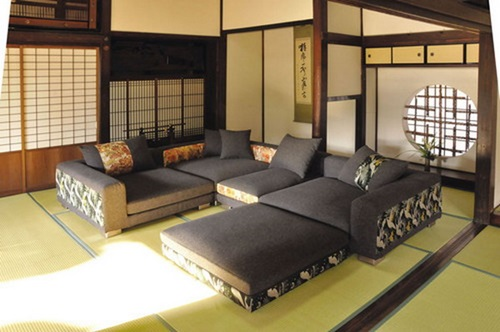 Japanese living room interior designs elegant living for Living room japanese