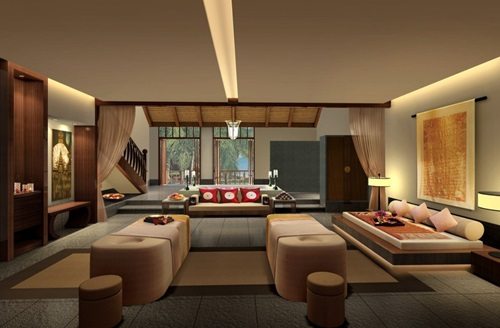 Japanese Living Room Interior Designs - Elegant Living Room