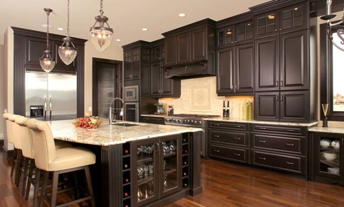 Kitchen Cabinet Design Different Colors Interior
