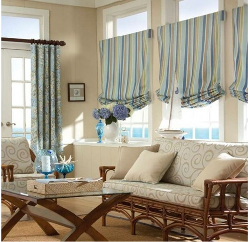 Luxurious modern living room curtain design interior design for Curtain for living room ideas