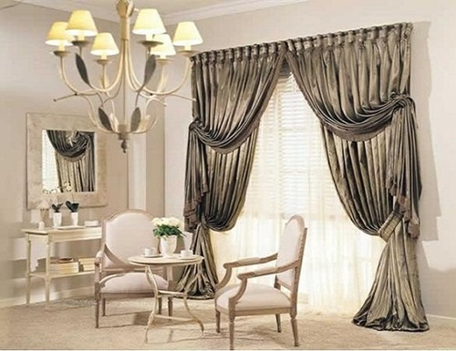 Modern Living Room Curtains luxurious modern living room curtain design - interior design