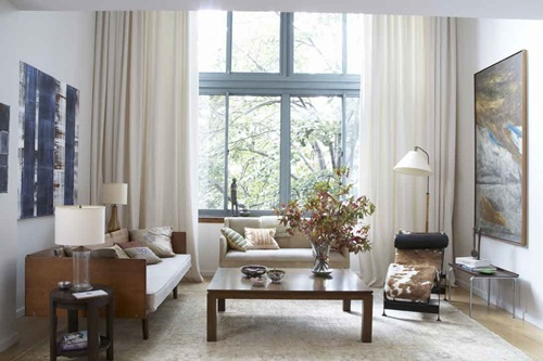Luxury Modern Living Rooms luxurious modern living room curtain design - interior design