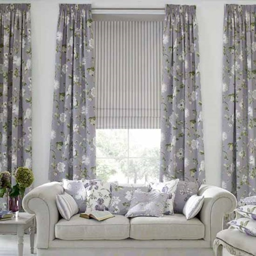 Merveilleux ... Luxurious Modern Living Room Curtain Design ...