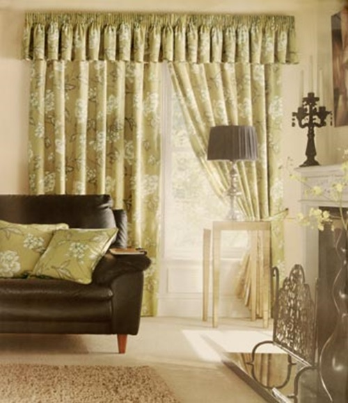 Luxurious modern living room curtain design interior design for Living room curtain designs pictures