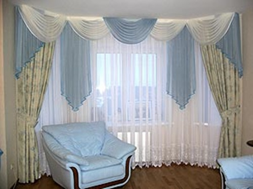 Luxurious Modern Living Room Curtain Design Interior