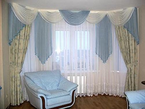 Luxurious Modern Living Room Curtain Design