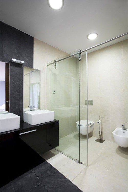 Master bathroom interior designs simple and luxurious for Simple toilet design