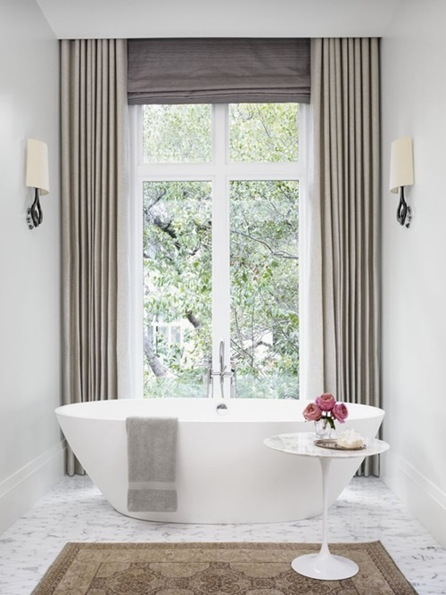 Modern bathroom window curtain designs interior design for 3 window curtain design