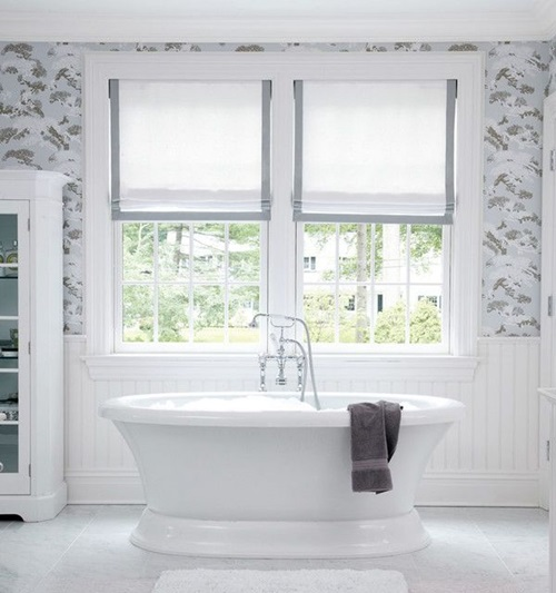 Modern bathroom window curtain designs interior design for Window design bathroom