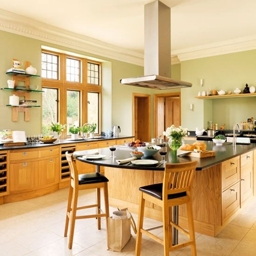 Use Accessories To Link Your Island To The Rest Of Your: Modern Country Kitchens Design