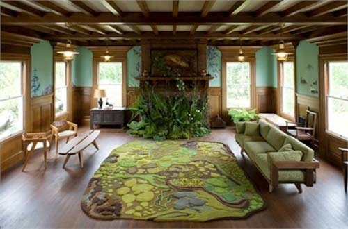 Natural living room design interior design for Nature decor