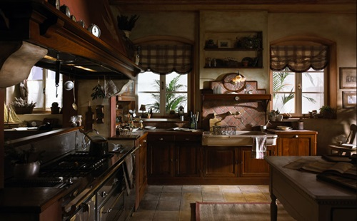 Rustic Italian Kitchen Curtain Designs