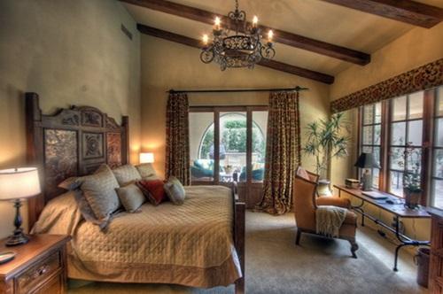 Traditional mediterranean bedroom curtain ideas interior design for Mediterranean style bedroom set