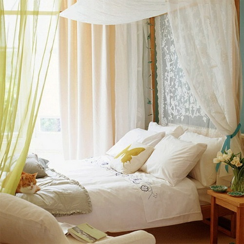 Traditional Mediterranean Bedroom Curtain Ideas
